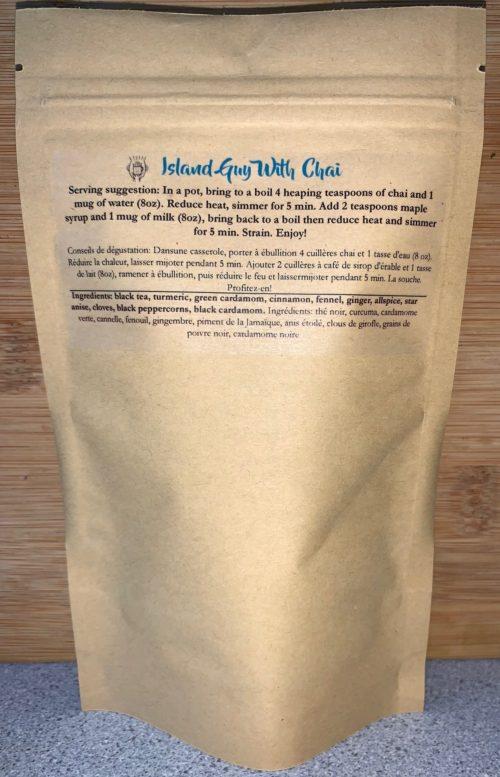 golden turmeric steep chai -back