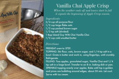 Vanilla Chai Apple Crisp