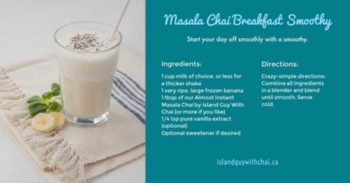 masala chai breakfast smoothy