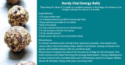 Durdy Chai Energy Bars
