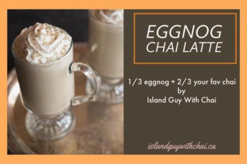 Eggnog Chai Latte