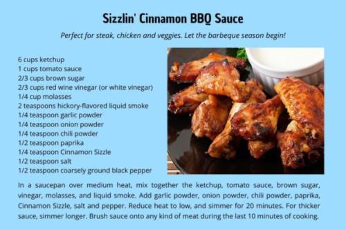 Sizzlin' Cinnamon BBQ Sauce