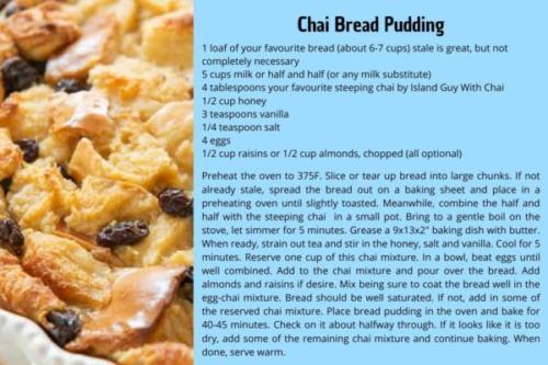 chai bread pudding