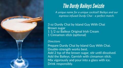 The Durdy Baileys Swizzle cocktail