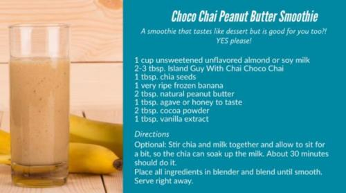 choco chia peanut butter smoothie