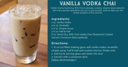 vanilla vodka chai